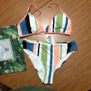Cupshe stripped swimsuit